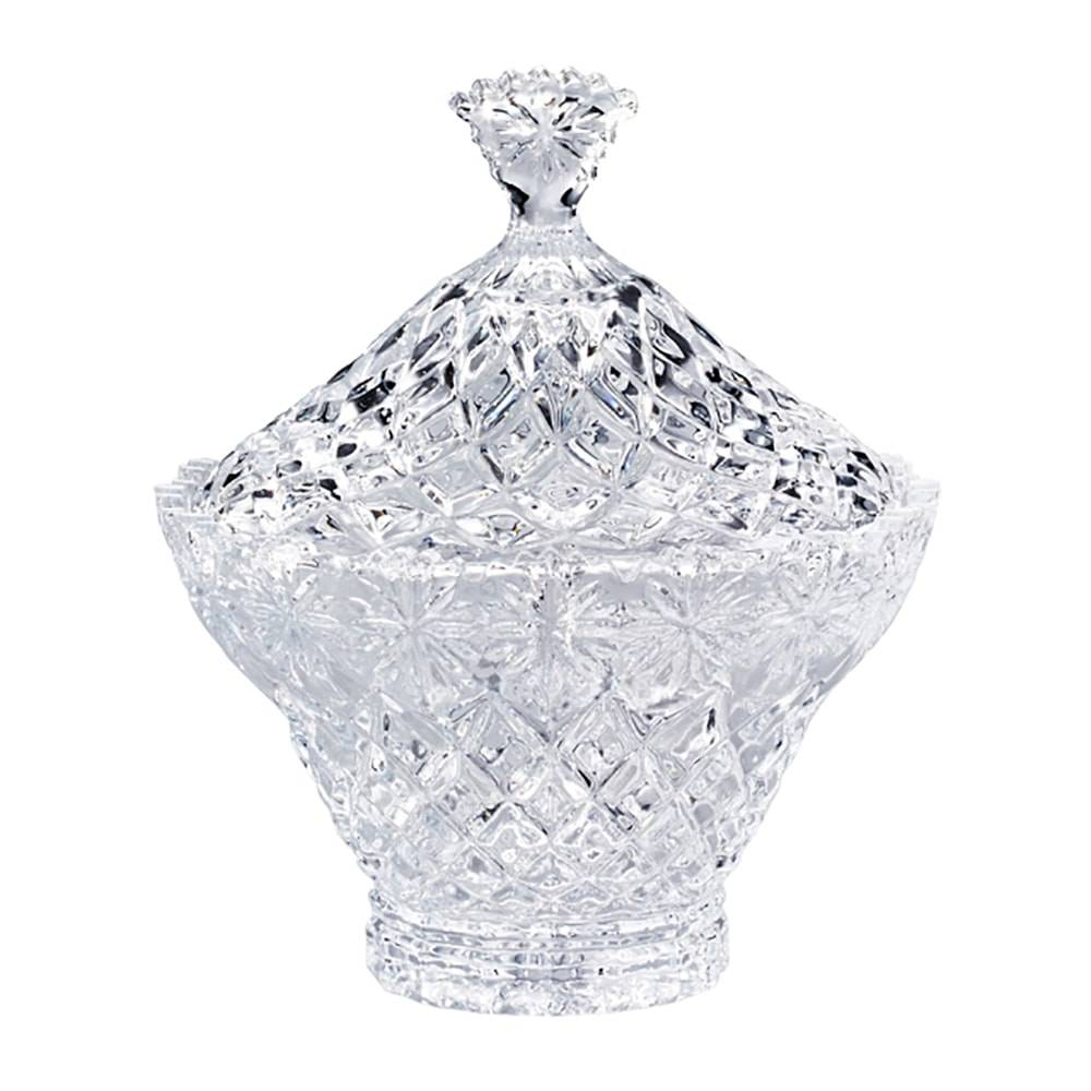 Bomboniere Diamond em Cristal - Lyor Classic - 19,4x17 cm