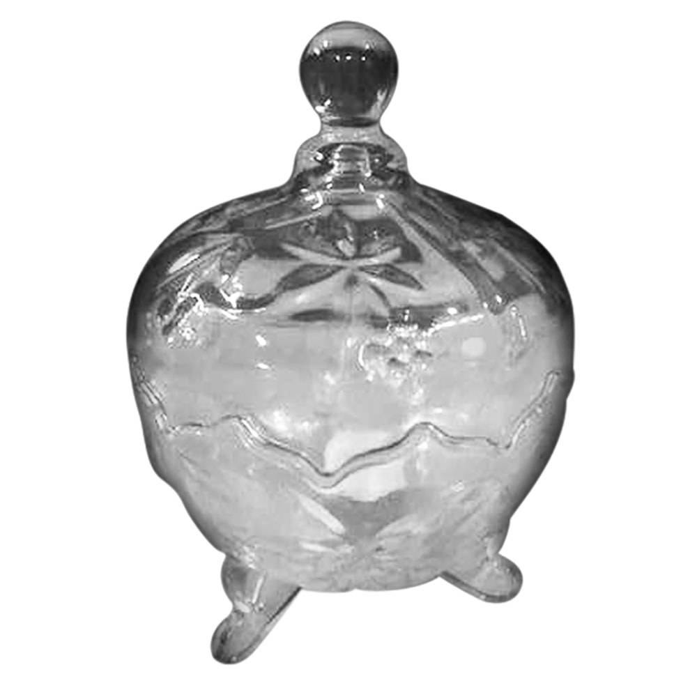 Bomboniere Elegance Transparente em Vidro - 19,5x14,5 cm