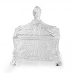 Bomboniere Jewell Pequeno em Vidro Transparente - 11x10 cm