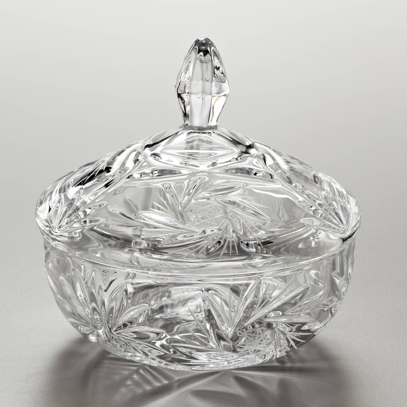 Bomboniere Pinwheel Luxo em Cristal - Bohemia - 15 cm