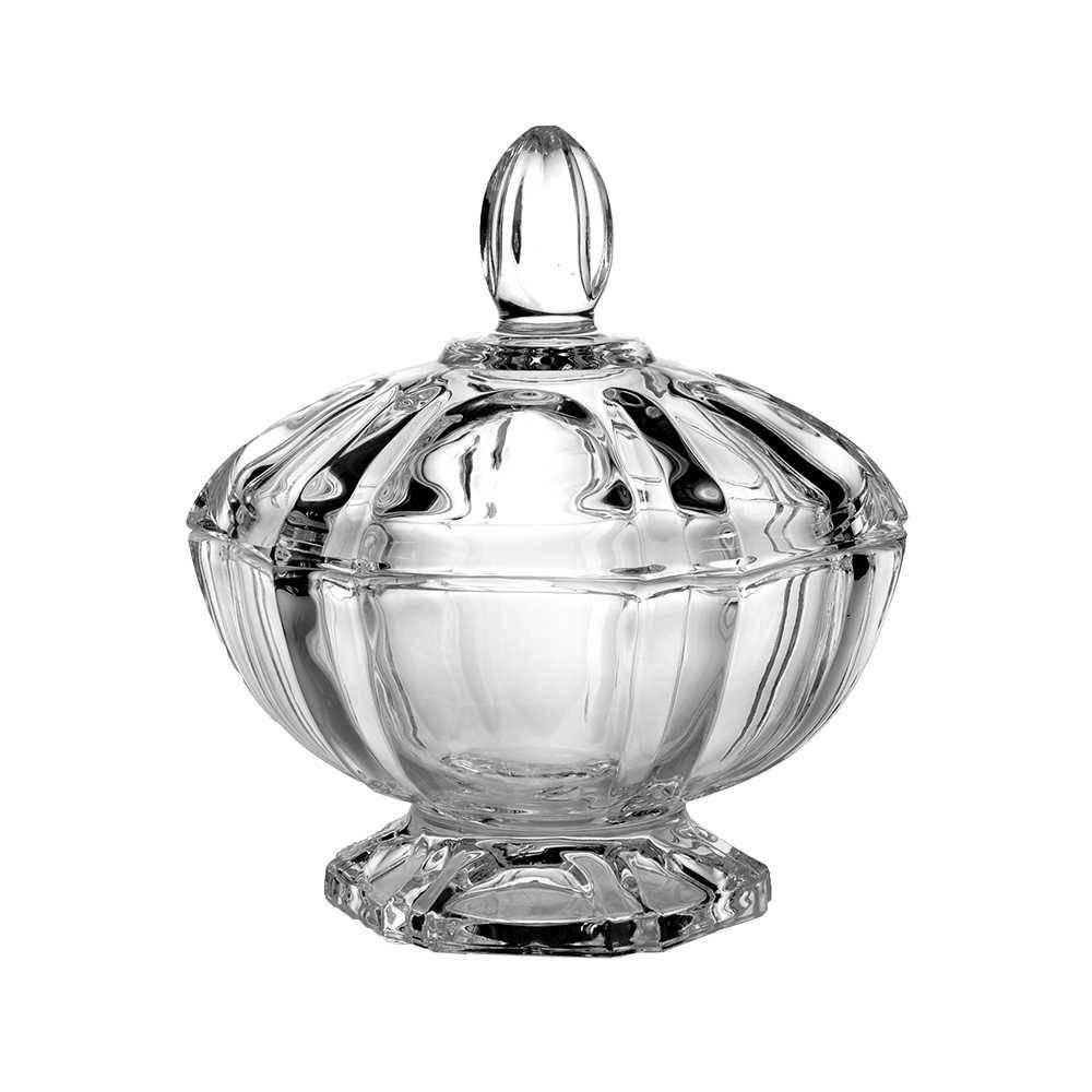 Bomboniere Renata Transparente em Cristal Ecológico - L Hermitage - 11,5x11 cm