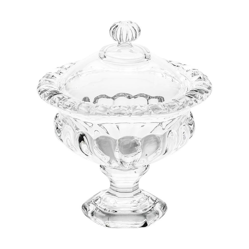 Bomboniere Sussex Pedestal Pequeno Transparente em Cristal - 14x12 cm