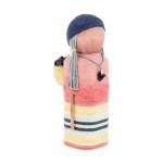 Boneca Decorativa Las Açucenas - Onix - Colorida em Madeira/Tecido - 16x7 cm