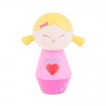 Boneca Decorativa Momiji Mania - Bina - Rosa/Amarelo em Resina - 8x6 cm