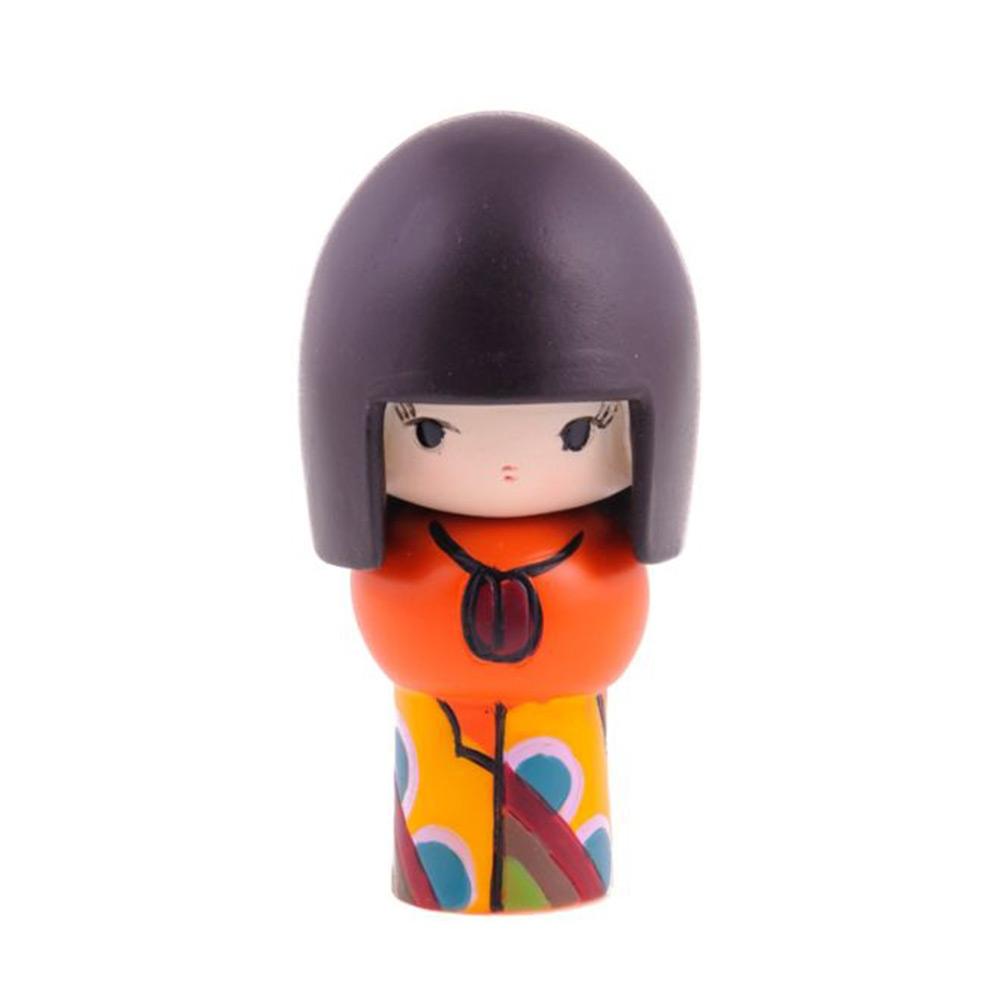 Boneca Decorativa Momiji Mania - Cristal - Colorida em Resina - 8x4 cm