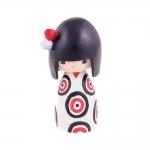 Boneca Decorativa Momiji Mania - Gueixa Nina - Colorida em Resina - 9x5 cm