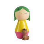 Boneca Decorativa Momiji Mania - Leli - Colorida em Resina - 8x6 cm