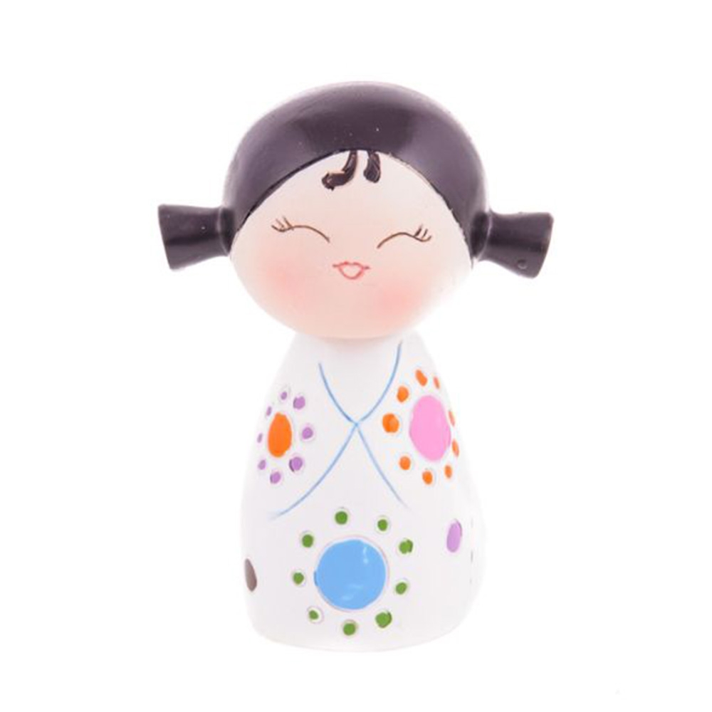 Boneca Decorativa Momiji Mania - Nathy - Colorida em Resina - 8x6 cm