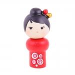 Boneca Decorativa Momiji Mania - Stefi - Vermelho/Preto em Resina - 7x3 cm