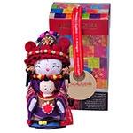 Boneca Decorativa Oriental Jino Pequena em Tecido