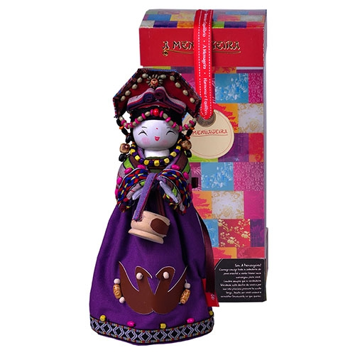 Boneca Decorativa Oriental Tujia em Tecido - 28x12 cm