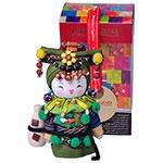 Boneca Decorativa Oriental Va Pequena em Tecido - 12x7 cm