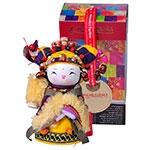 Boneca Decorativa Oriental Yi Pequeno em Tecido
