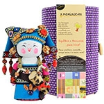 Boneca - Mensageira do Oriente - Zhuang em Tecido