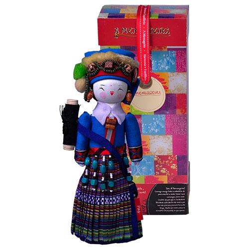 Boneco Decorativo Oriental Deang em Tecido - 28x12 cm