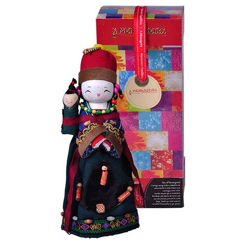 Boneco Decorativo Oriental Lahu em Tecido - 28x12 cm