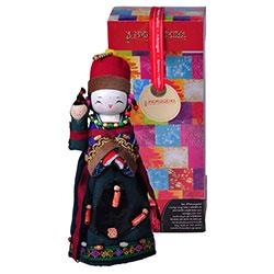 Boneco Decorativo Oriental Lahu em Tecido