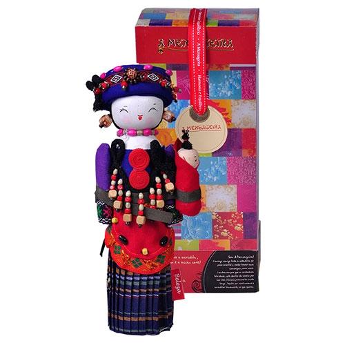 Boneco Decorativo Oriental Maonan em Tecido - 28x12 cm