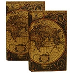 Book Box 2 Peças World Map Oldway