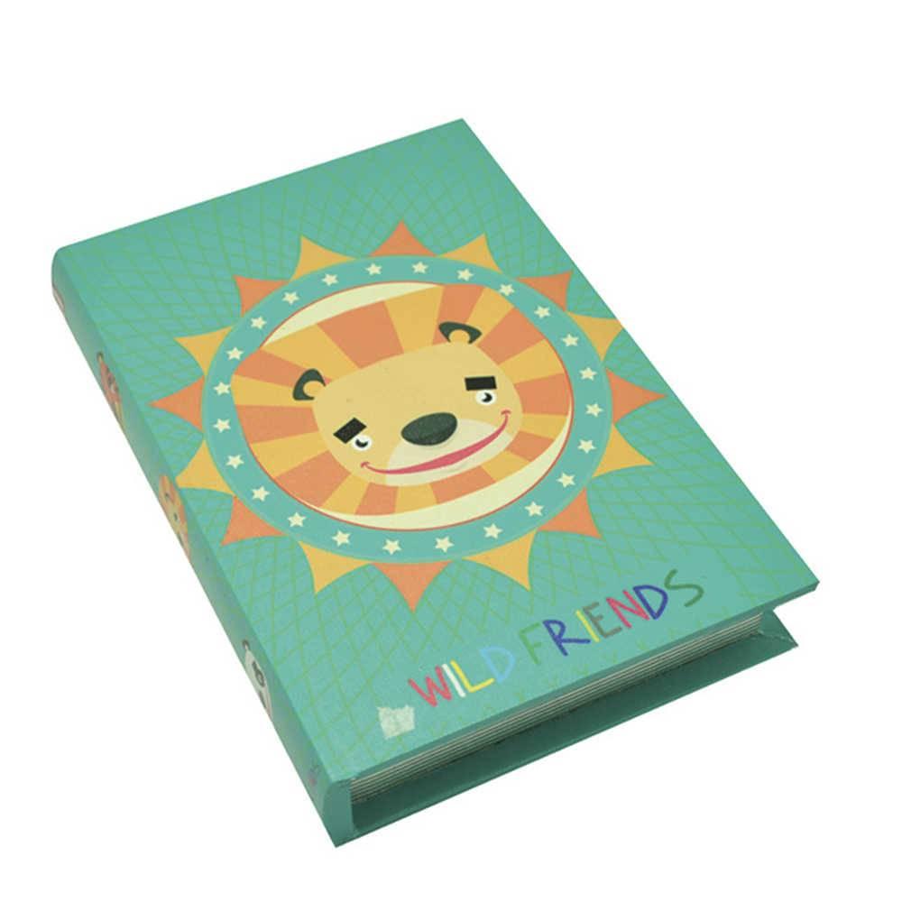 Book Box ABC Colorido em Madeira - Urban - 26x18 cm