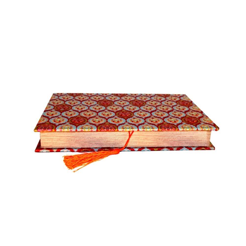 Book Box para Anéis Fina Flor Vermelho em Tecido - 27x19 cm