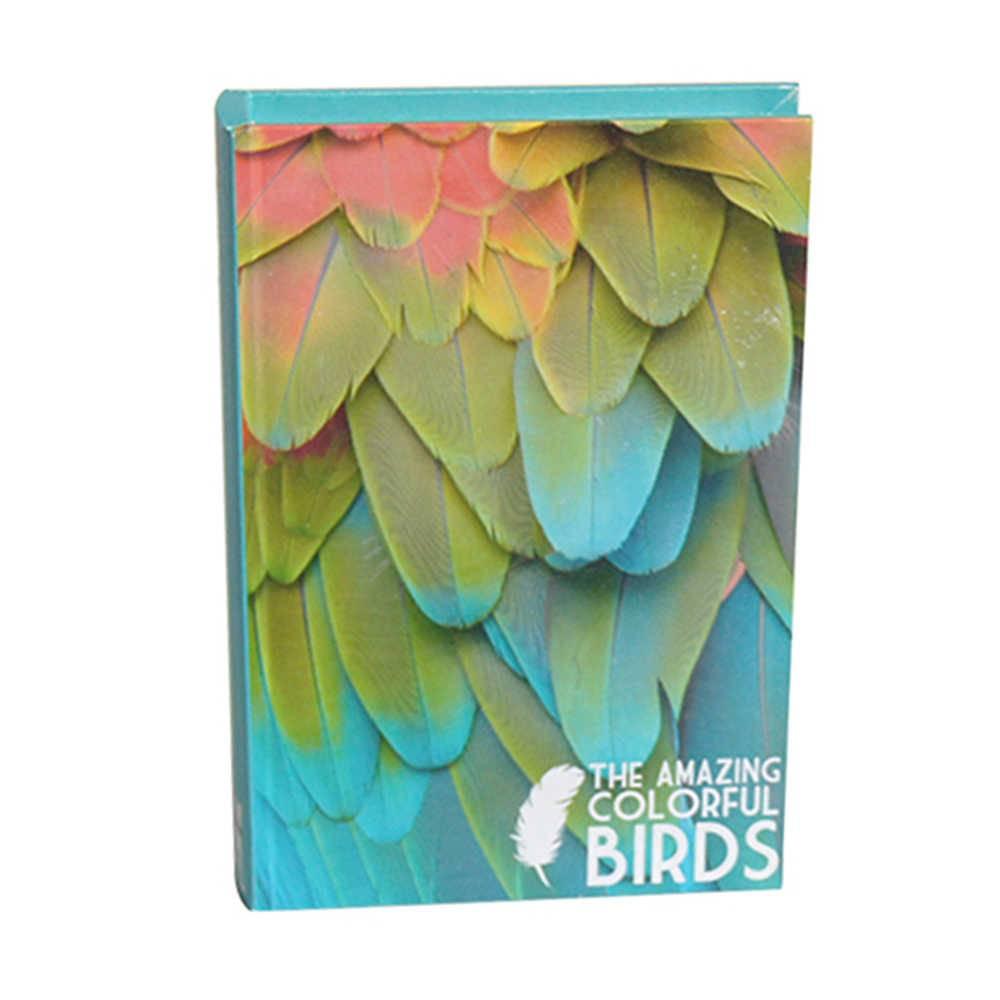 Book Box Birds Colorido em Madeira - Urban - 25x17 cm