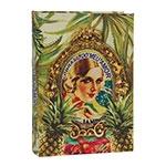 Book Box Brasil Chic Abacaxi em Madeira - 30x21 cm