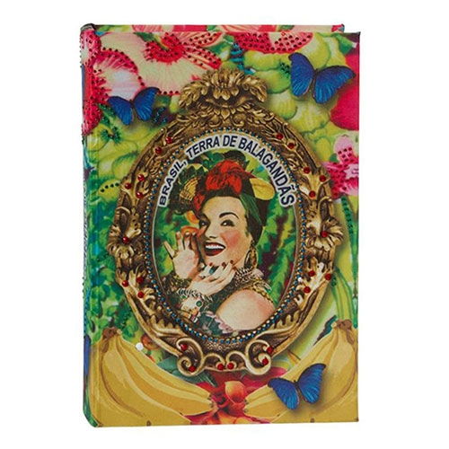 Book Box Brasil Chic Banana em Madeira - 30x21 cm