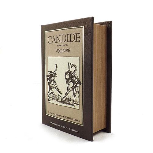 Book Box Candide Voltaire - Em Madeira - 20x14 cm