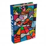Book Box Carmem Miranda - Romero Britto - em MDF - 33x22 cm