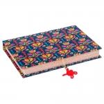 Book Box Chave Realeza Colorido em Madeira Revestido em Tecido - 27x19 cm