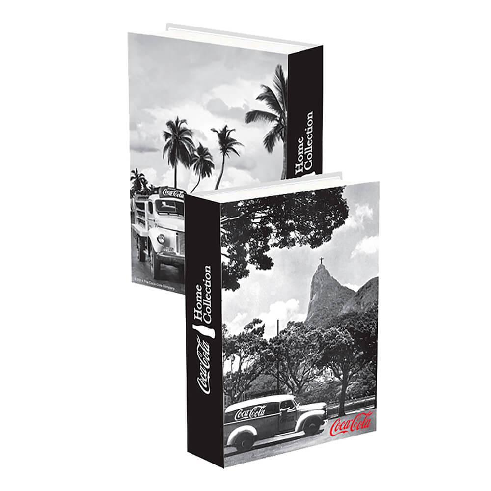 Book Box Coca-Cola Landscape Rio de Janeiro Preto em Madeira - Urban - 25x17x4 cm