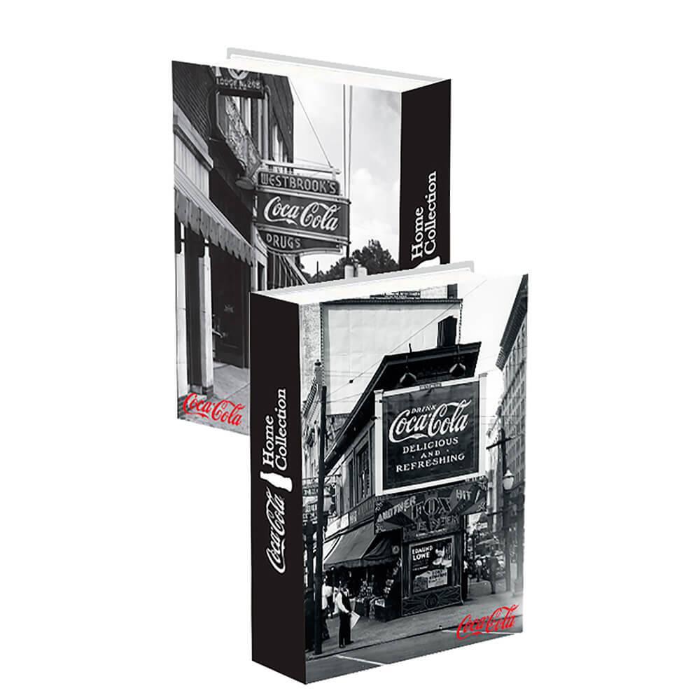Book Box Coca-Cola Outdoor Preto e Branco em Madeira - Urban - 25x17cm