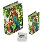 Book Box Conjunto 2 Peças Cartas Arara Vermelha Fullway - 20x14 cm