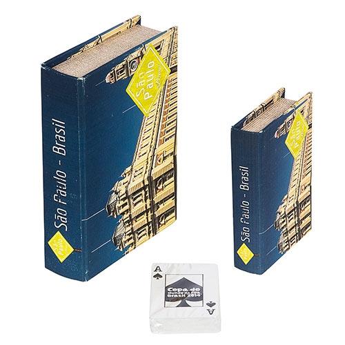 Book Box Conjunto 2 Peças Cartas Estação da Luz Fullway - 20x14 cm