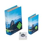 Book Box Conjunto 2 Peças Cartas Pão de Açúcar Fullway - 20x14 cm