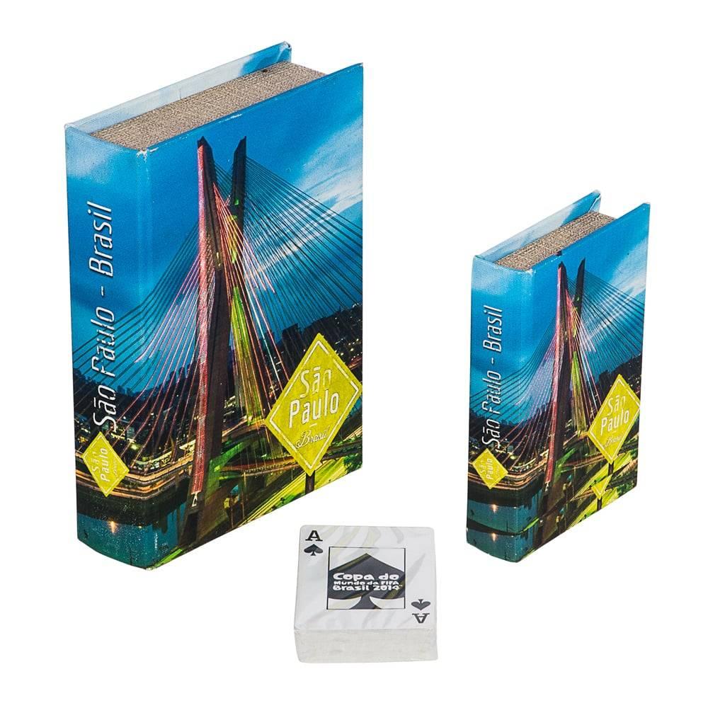 Book Box Conjunto 2 Peças São Paulo Fullway - 20x14 cm