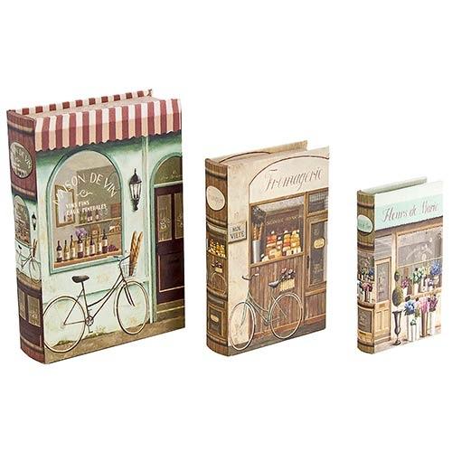 Book Box Conjunto 3 Peças Bikes em Frente a Loja Oldway - 30x21x7cm