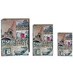 Book Box Conjunto 3 Peças Champs Elysees Oldway - 35x26x8cm