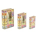 Book Box Conjunto 3 Peças Love com Foto Oldway - 33x21 cm