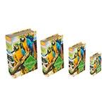 Book Box Conjunto 4 Peças Araras Amazônia Fullway - 30x21 cm
