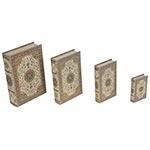 Book Box Conjunto 4 Peças Design Tapete Escuro Oldway - 33x21 cm
