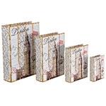 Book Box Conjunto 4 Peças London Fundo Branco Oldway