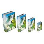 Book Box Conjunto 4 Peças Papagaio Foz Iguaçu Fullway - 30x21 cm