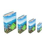 Book Box Conjunto 4 Peças Rio de Janeiro Fullway - 30x21 cm