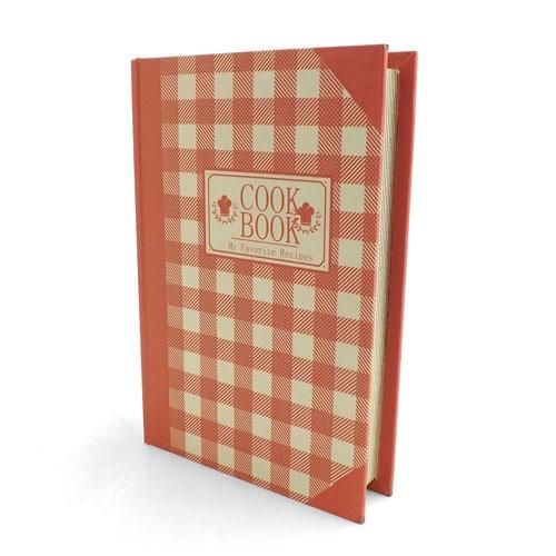Book Box CookBook Pink - Caixa Livro / Porta objetos - Madeira - 19x27cm