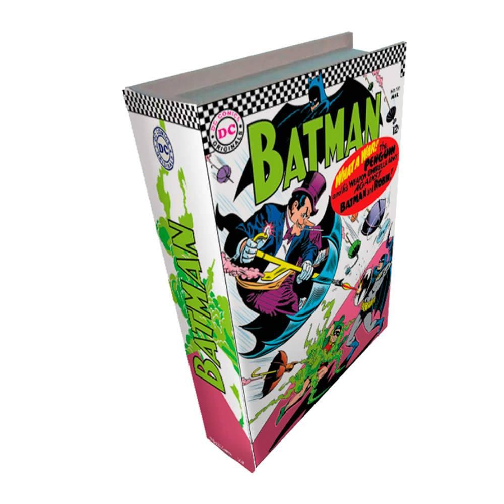 Book Box DC Comics Batman Colorido em Madeira - Urban - 25x17 cm