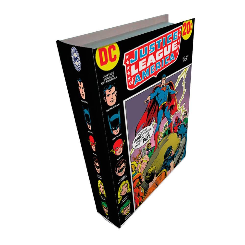 Book Box DC Comics League Colorido em Madeira - Urban - 25x17 cm