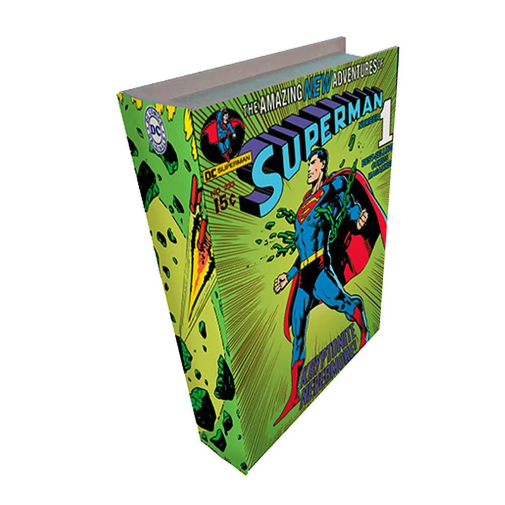Book Box DC Comics Superman Colorido em Madeira - Urban - 25x17 cm