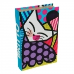 Book Box Fluffy Friends - Romero Britto - em MDF - 33x22 cm